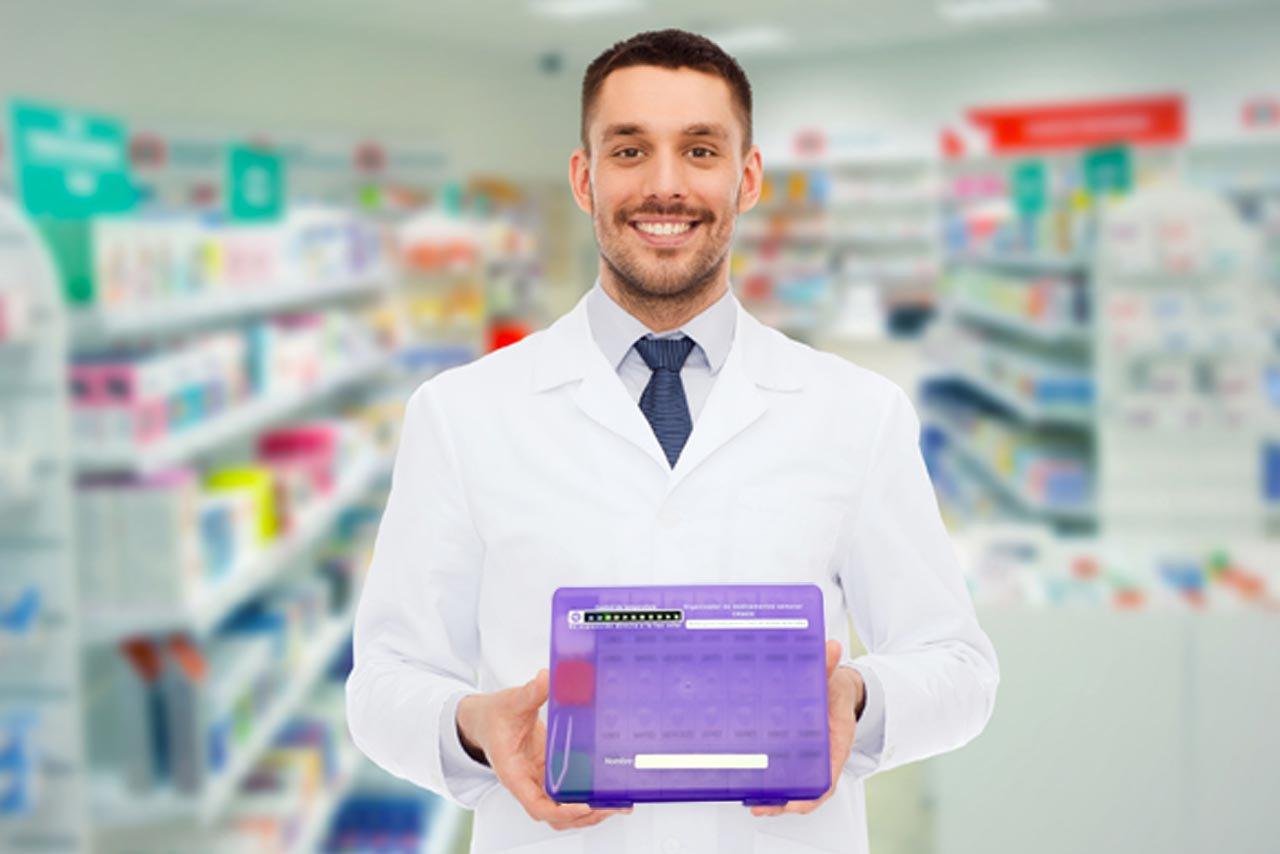 pacientes crónicos pastillero semanal